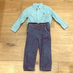 Ralph Lauren Oxford and Carters Blue Jeans